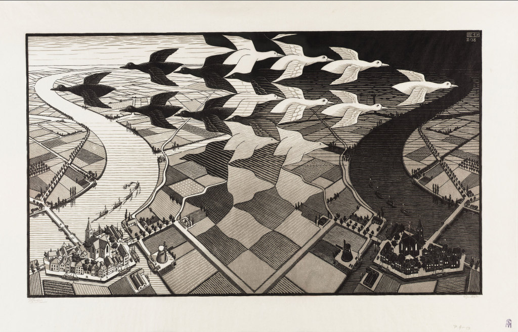 """Day and Night"" by M.C. Escher @ The M.C. Escher Company B.V.- Baarn - the Netherlands"