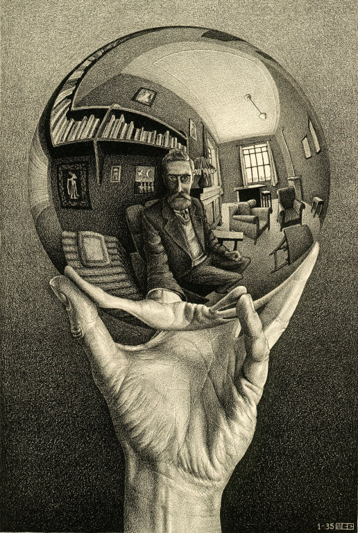 """Hand with Mirror"" by M.C. Escher @ The M.C. Escher Company B.V.- Baarn - the Netherlands"