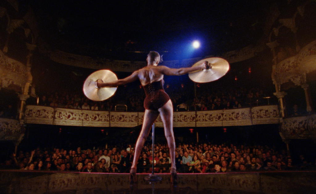 A scene from <i>Grace Jones: Bloodlight and Bami</i>, courtesy Kino Lorber