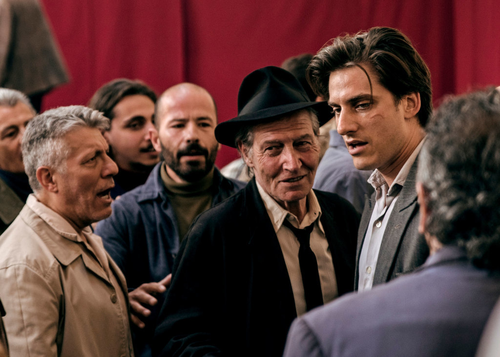 Carlo Cecchi and Luca Marinelli in a scene from Martin Eden, photo by Francesca Errichiello, courtesy Kino Lorber