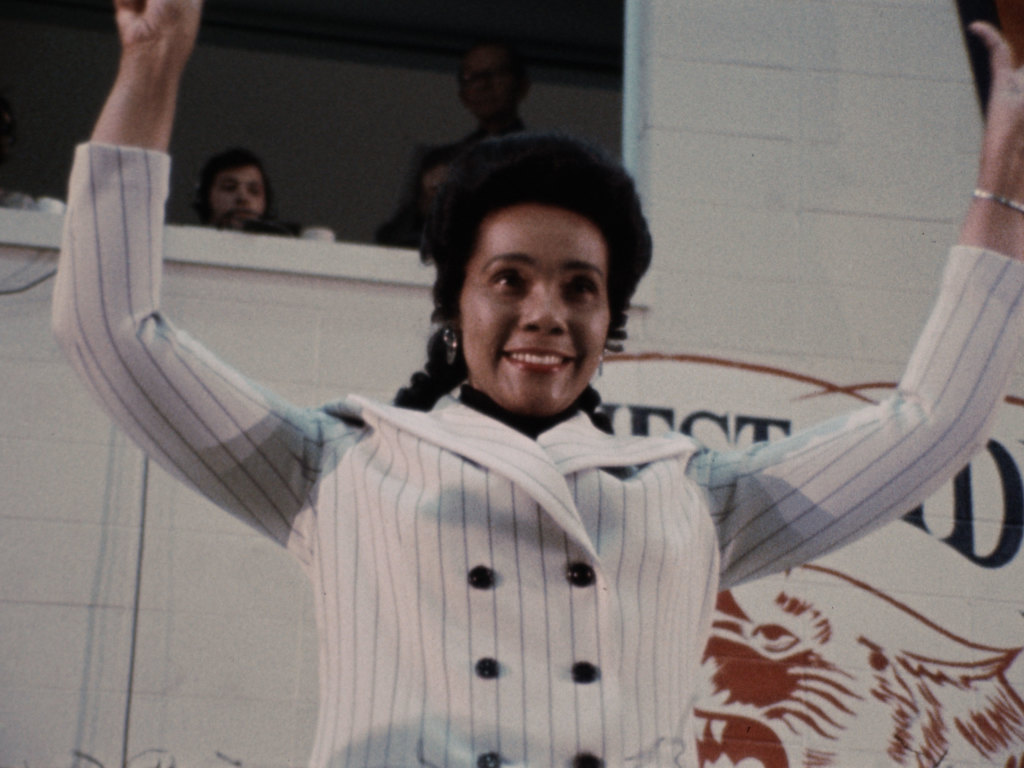 Coretta Scott King in a scene from <i>Nationtime</i>, courtesy Kino Lorber
