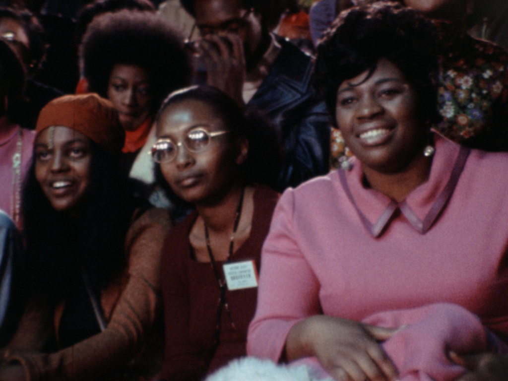 Crowd members in a scene from <i>Nationtime</i>, courtesy Kino Lorber