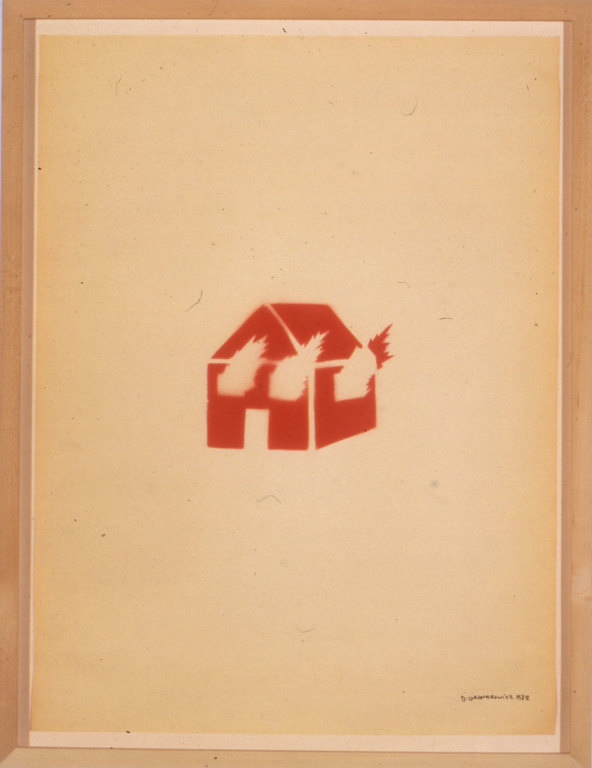 David Wojnarowicz, Untitled (Burning House), 1982. © Estate of David Wojnarowicz. Courtesy of the Estate and P.P.O.W
