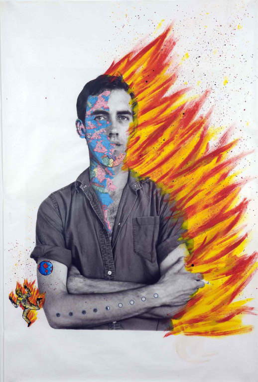 David Wojnarowicz with Tom Warren. Self Portrait of David Wojnarowicz, 1983-84. Courtesy of the artist, the Estate of David Wojnarowicz and P.P.O.W.